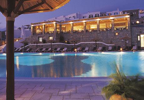 Mykonos Grand Hotel Resort Photo Gallery Swimming Pool Room Veranda Suite S Interior Beach Convention Hall By Night